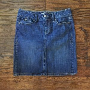 Old Navy Low Waist Stretch Denim Jean Skirt sz 6