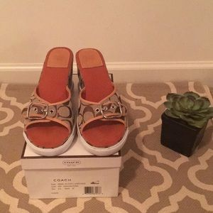 "Coach ""Alyssa"" sandal size 8M"