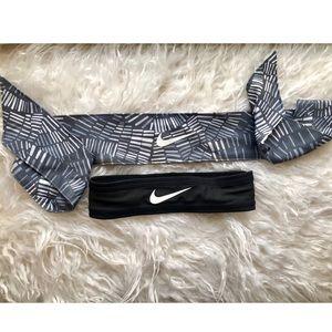 Two Nike workout headbands