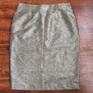 Worthington Gold Sparkle Pencil Skirt Size 16