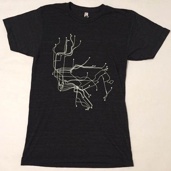 Nyc Subway Map Dark.3 15 American Apparel Nyc Subway Map Tee Shirt