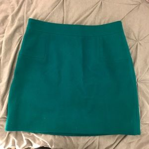 J. Crew Felt Green Mini Skirt