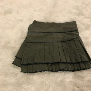 Free People FP One green size 0 skirt side clasp