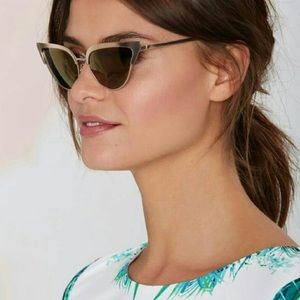 Quay X Nasty Gal Gold Frame Cat Eye Sunglasses