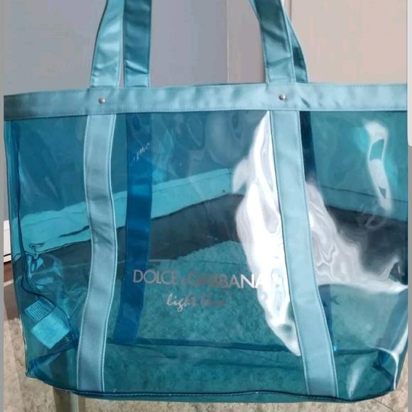 Dolce   Gabbana Handbags - Dolce Gabbana Light Blue Clear Nylon Tote 22059a8bade14