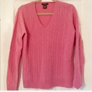 Eddie Bauer bubblegum pink cable knit sweater