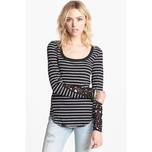 Free People Hard Candy Embellished Stripe Thermal