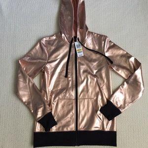 NWT rose gold zip up hoodie