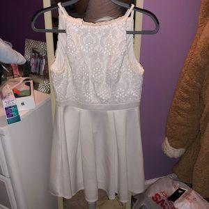 White Francesca's Lace dress