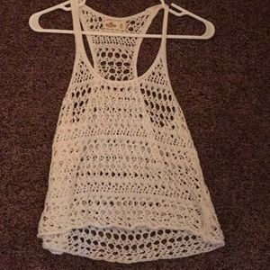 A hollister xsmall crochet tank top