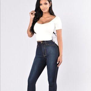 Dark wash fashion nova jeans