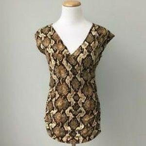 Michael Kors Women's  Zipper Snake-Print