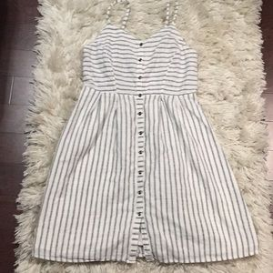 Old navy button front stripe sundress