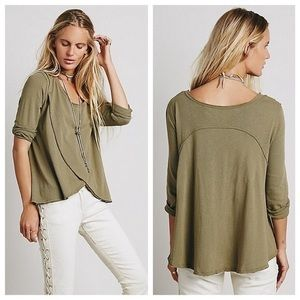 free people olive green draped swing top
