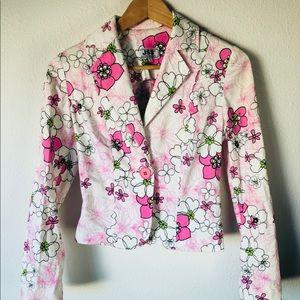 Vintage 1970s JSS sz s Flower 38 Blazer