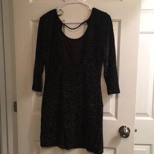 Dresses & Skirts - NWOT Black & silver dress