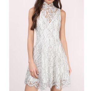 Lace open back dress