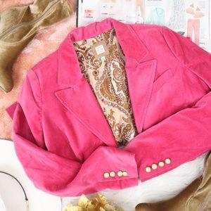 Old Navy Pink Velvet Blazer
