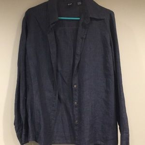 GAP Women's Linen Button-Up Shirt