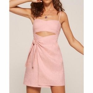 Reformation pink wrap dress