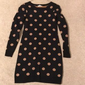 Old Navy polka dot sweater dress