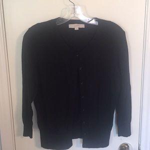 Loft black cardigan