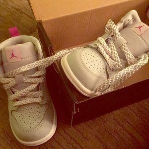 Baby girl Nike air Jordan sneakers