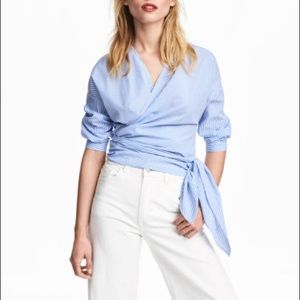 H&M wrapover cotton blouse