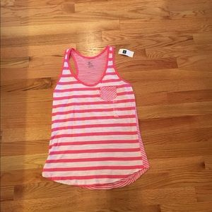 Gap Pink and White Striped Tank Top, Small New