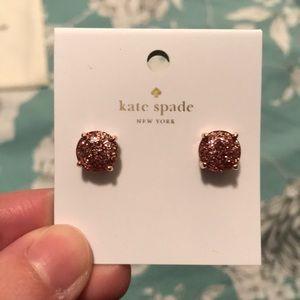 NWT Kate Spade Rose Gold Earrings