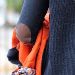 J. Crew Elbow Patch Knit Sweater