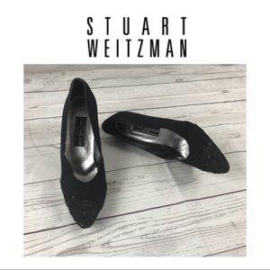 Stuart Weitzman Black Dressy Shoes.  Sz 9
