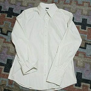 New JCREW Laura femme  stripe white shirt. Size  4