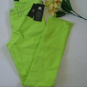 Lime Green Rock & Republic Jeans