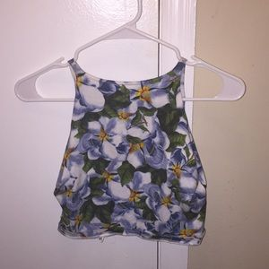 American Apparel Floral Crop Top