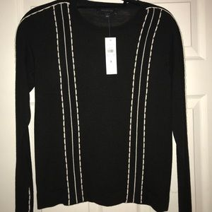 Black with white sitching Ann Taylor sweater