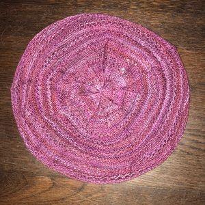 Accessories - Fuchsia Knit Beret