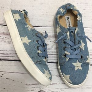 Steve Madden Jane Canvas Slip On Star Sneakers