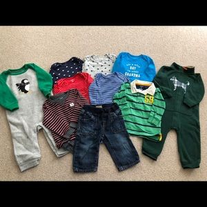 Baby boy size 12 mo lot winter clothes