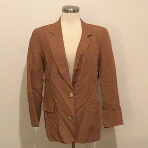 Long light brown blazer