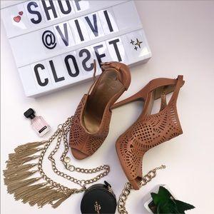 🔸Jessica Simpson Cognac Heels 🔸