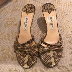 Jimmy Choo snakeskin heel