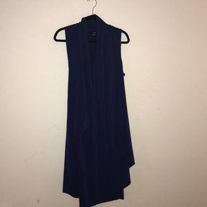 Navy Blue Long Vest