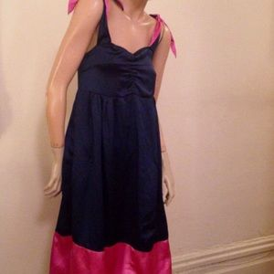 Marc Jacobs Navy and Pink Silk Jumper