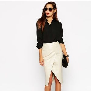 ASOS real leather skirt 🔥