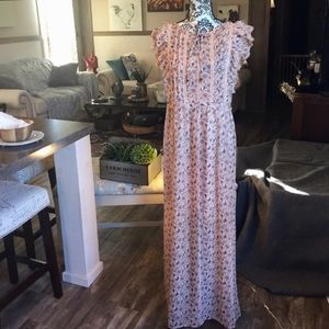 Dresses & Skirts - Feminine Floral Lace Detail Maxi Dress