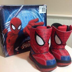 🎁NWT Kids Spider-Man Light Up Boots!  5M