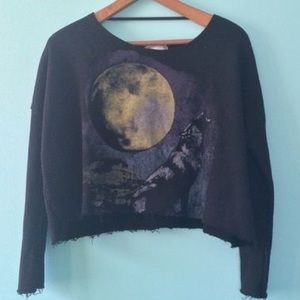 UO Cropped Wolf Pullover