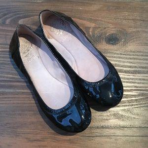 Vince Camuto Ellen Black Patent Leather Flats