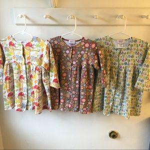 Set of 3 Zutano Baby Long Sleeve Dresses